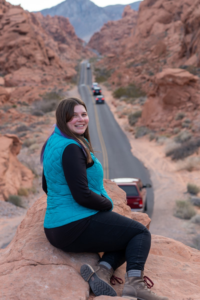 Amanda at Valley of Fire State Park