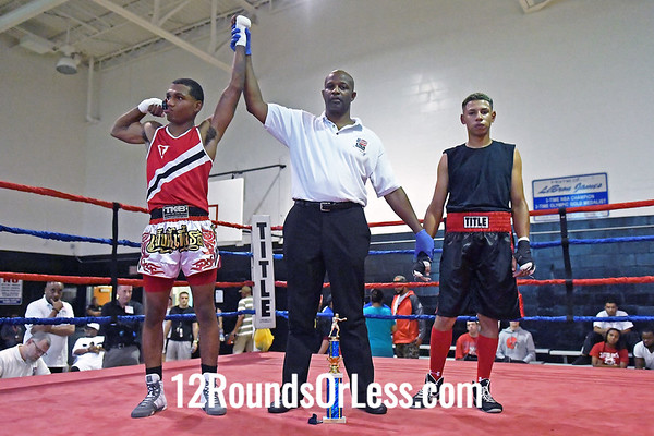 Bout #5:  Jeff Hudson, Blue Gloves, Toledo, OH  -vs-  Raphael Cotts, Red Gloves, Youngstown, OH