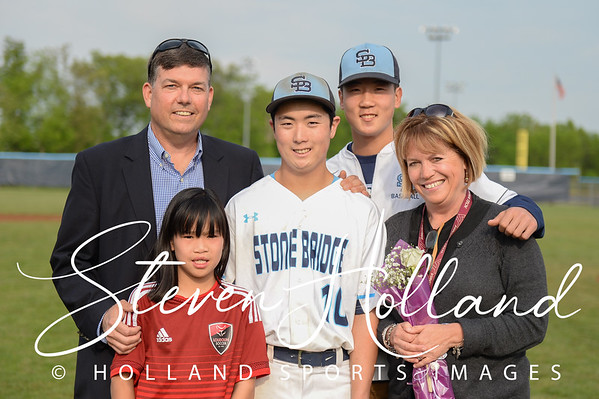 Baseball - Varsity: Stone Bridge Senior Night 5.10.2016 (by Steven Holland)