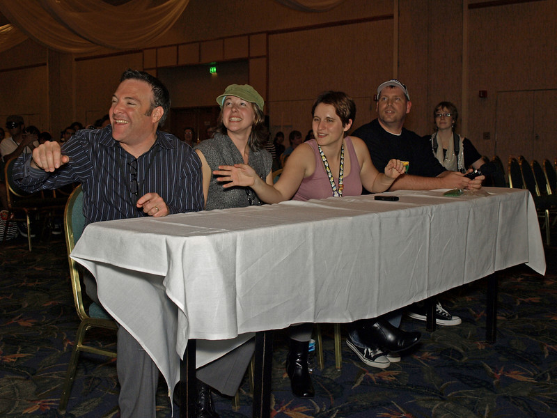 The judges for tonight's show (right to left)