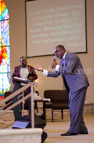 Bishop Lovester Adams preaches at Southern Saint Paul Church of Los Angeles