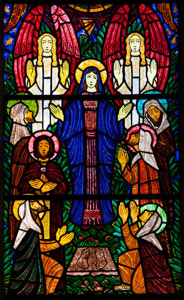 Pacy-sur-Eure , Saint-Albin, The Ascension Window, The Virgin Ascending