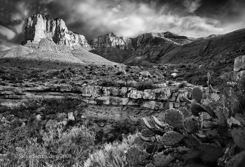 I went to Guadalupe Mountains National Park a few years back it's such a beautiful Chihuahaun Desert landscape. Despite the heat of July it didn't get too hot and the high elevation canyons were nice and cool with the summer monsoon building above El Capitan Mountain (left) and Guadalupe Peak (Texas's highest peak). I camped out the day before leading small private workshop to scout the place out. Hope to return to it again sometime soon!!
