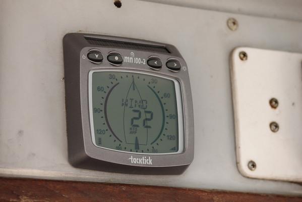 wind = 22 knots