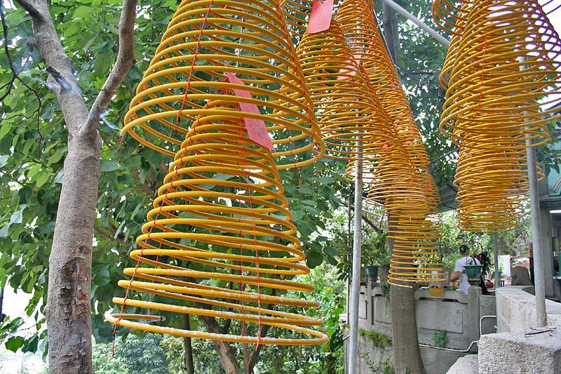Make a wish - spiral incense sticks at A-Ma temple, Macau