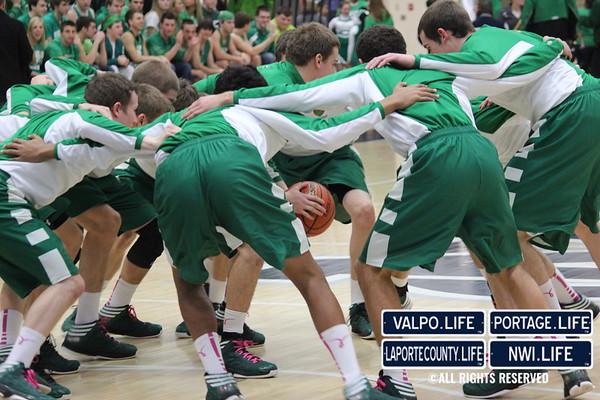 VHS Boys Basketball Sectional Semifinal vs Chesterton 3-1-13