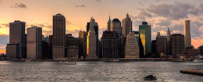 Manhattan Skline Sunset 2011