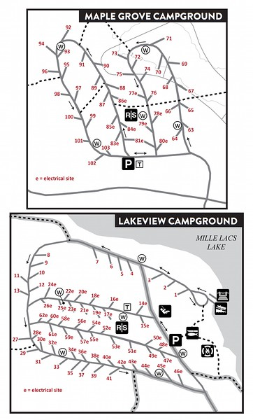 Father Hennepin State Park (Campground Maps)