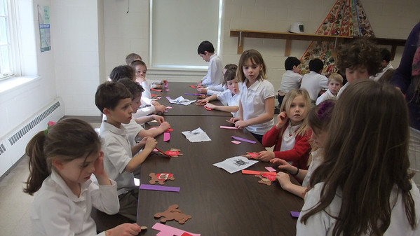 First Grade Celebrates Valentine's Day