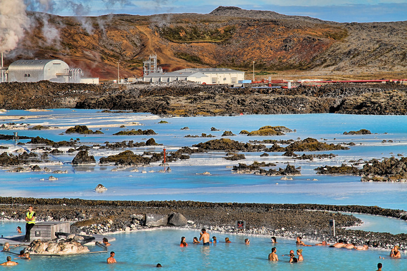 Wide angle of the blue lagoon, I like the way they make electricity