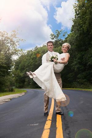 April & Bryan Wedding Party - Bride & Groom