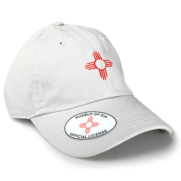 Outdoor Apparel - Organ Mountain Outfitters - Hat - Zia Sun Symbol Dad Cap White.jpg