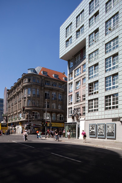 Haus am Checkpoint Charlie Museum (right) on Kochstrasse, Berlin, Germany