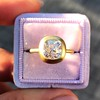 2.05ct Antique Cushion Cut Diamond Chunky Bezel with pave setting GIA J SI2 8