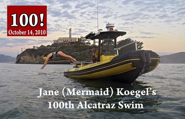 Jane Koegel's 100th Alcatraz Swim