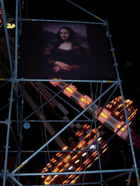 Mona Lisa and Xtreme Frisbee at night.