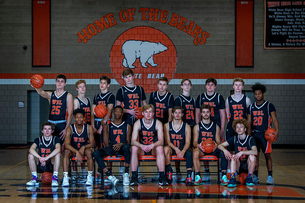 White Bear Boys Basketball Portraits 2019/20