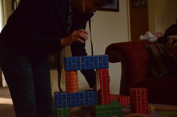 November 2012 - Nichlas and Cathy Playing With Blocks