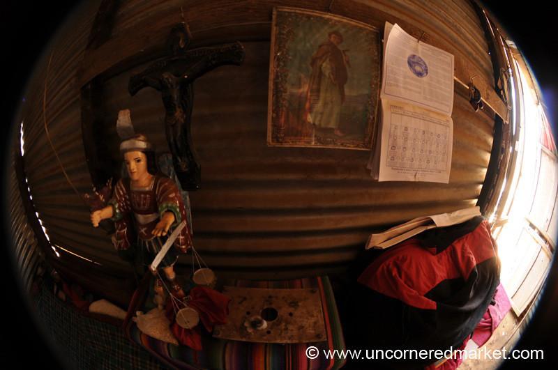Inside Village House, Fisheye - Totonicapan, Guatemala