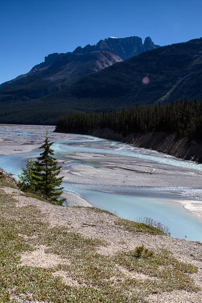 blues of a glacial river