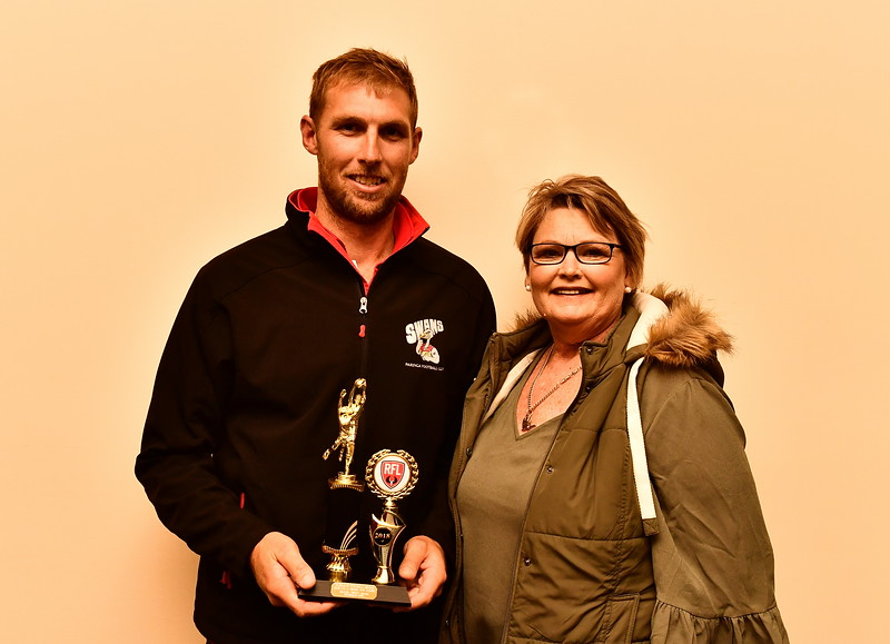 "Riverland Independent football Riverland Football League 2018 ""A"" Grade Most Valuable Player, Sam Frahn Trophy sponsored by Nippy's"