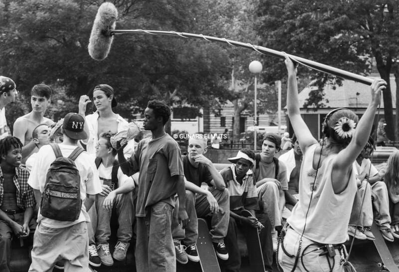 """KIDS"" movie filming in Washington Square Park 1994"