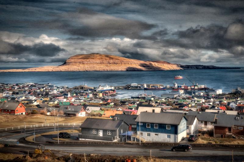 Torshavn, Faroe Islands as an oil painting, 2 of 2