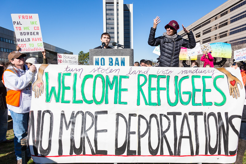 No Ban No Wall Rally