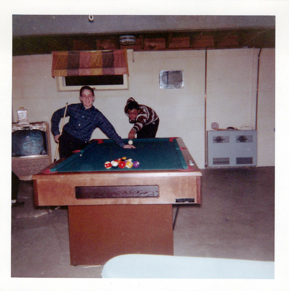 1963 Ken and Don with new pool table.jpeg