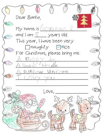 Ms. Richardson's Kindergarten Letters to Santa