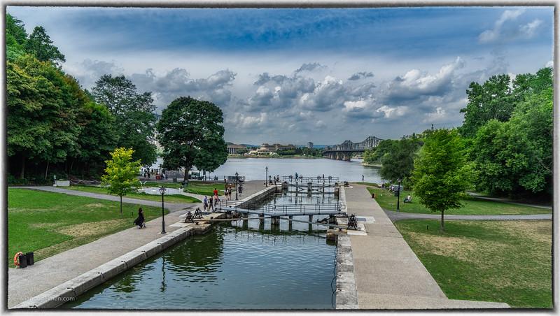 Rideau Canal Where it Meets the Ottawa River in Ottawa