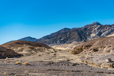Dry creek bed along Hwy 190 in Death Valley