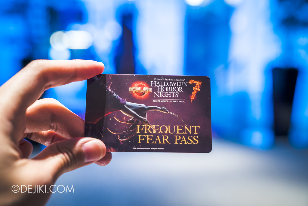 Universal Studios Singapore Park Update August 2017 - HHN7 Halloween Horror Nights 7 Frequent Fear Pass at VIP Lobby