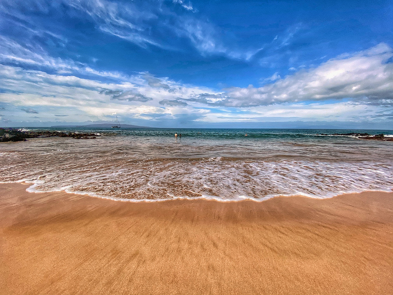 The Kihei Beach in Kihei, Maui