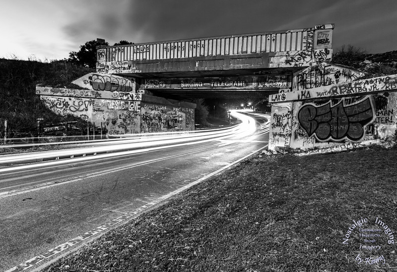 Graffiti Bridge in B&W