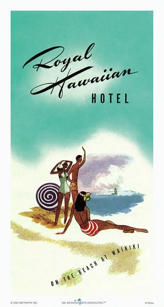146: Royal Hawaiian Hotel brochure cover, ca 1957.