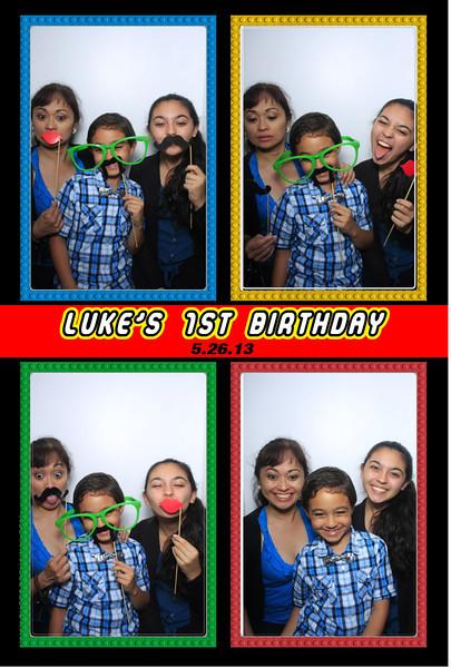 Luke's 1st Birthday (Luxe Photo Booth)