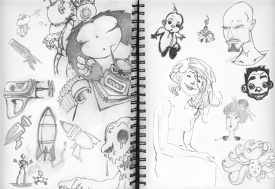 Drawing, Sketchbook ,Concepts, Portraits, Process, Builds