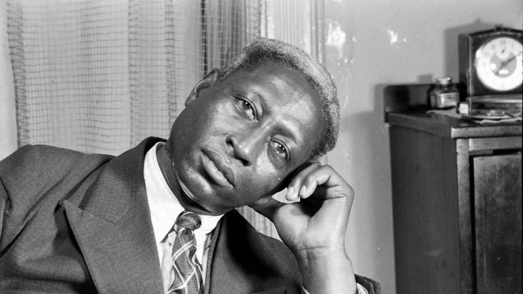 . The late folk and blues guitar legend Lead Belly was born Huddie William Ledbetter on this day in 1888. He was inducted into the Rock and Roll Hall of Fame in 1988, years after his death in 1949. (Courtesy of nrgm.fi)