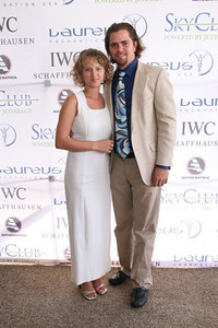 Julian Maison, Nina K Maison of Artmosphere sponsers of the event at the international polo club, Palm Beach
