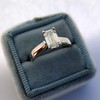 1.00ct Emerald Cut Diamond Solitaire, Platinum 8