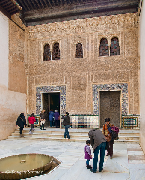 Fri 3/11 at La Alhambra in Grenada: A very elaborate wall