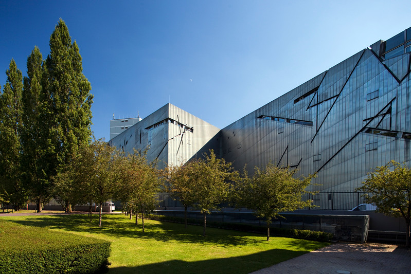 Exterior view of the Jewish Museum, Berlin, Germany