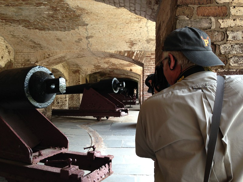 Ken Michaelchuck snapping Fort Sumter cannons - Leslie Rowley