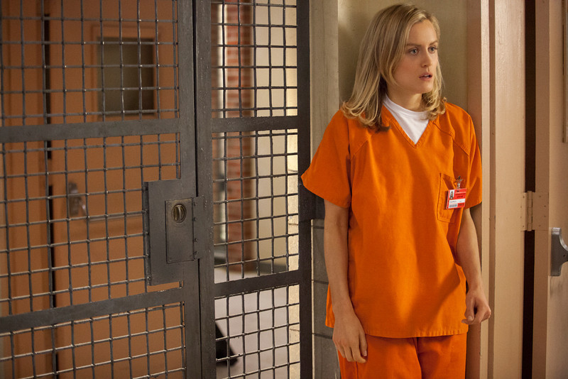 """. Taylor Schilling in a scene from Netflix\'s \""""Orange is the New Black.\"""" Photo credit: Jessica Miglio for Netflix"""