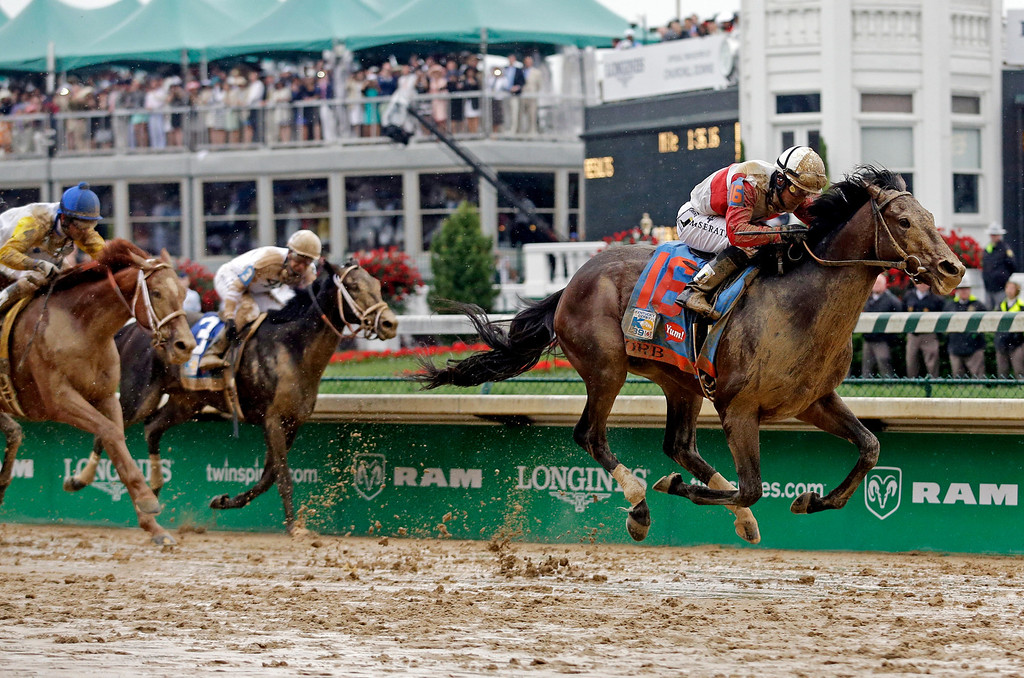 . Joel Rosario rides Orb during the 139th Kentucky Derby at Churchill Downs Saturday, May 4, 2013, in Louisville, Ky. (AP Photo/Morry Gash)