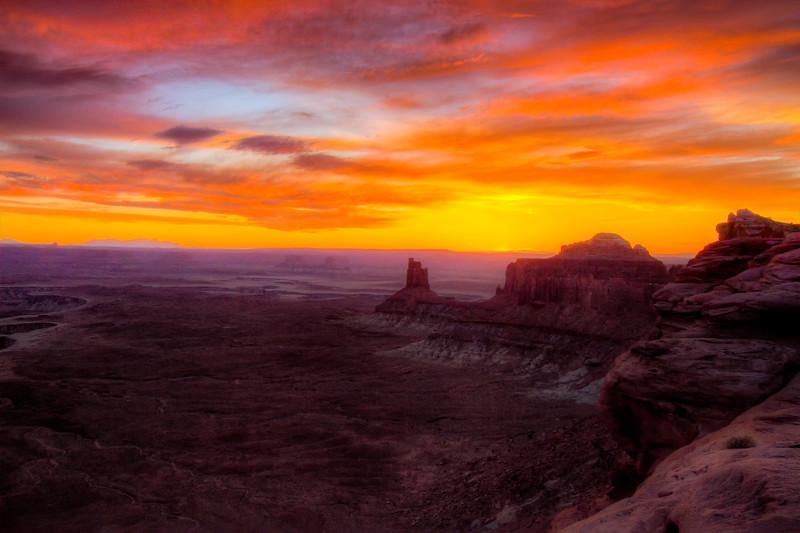 Sunset at Green River Ovedrlook near Moab, Utah