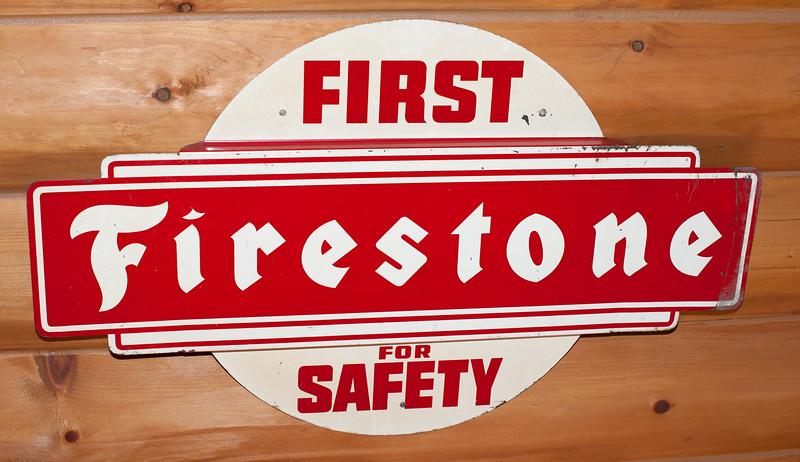 Firestone Safety Sign