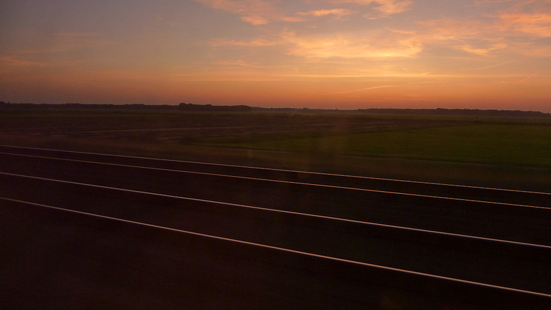 Sunset on the train ride back to Amsterdam.