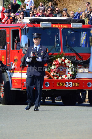 Boston, MA LODD Funeral - FF Michael Kennedy - 4/3/14